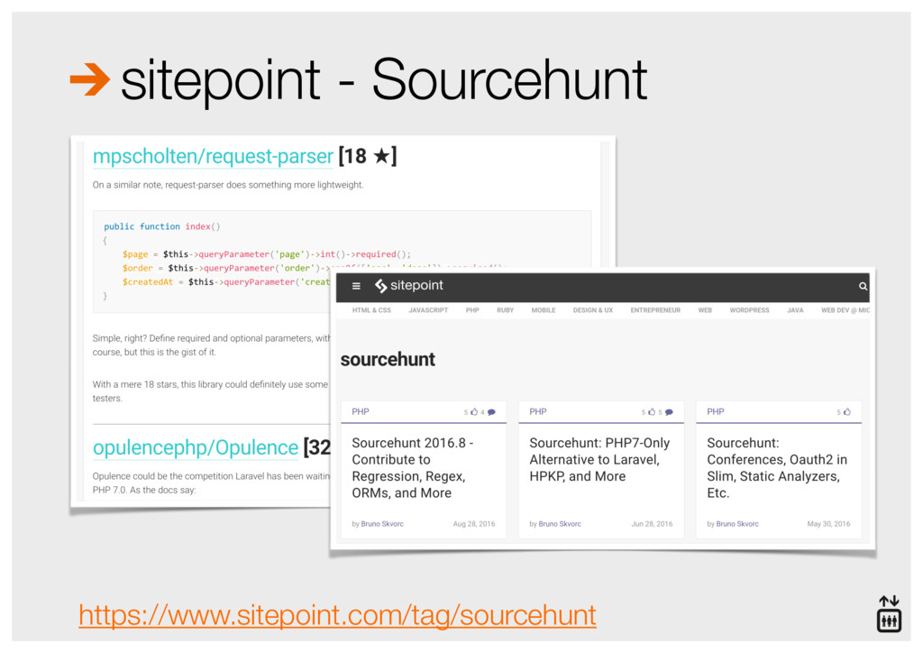 sitepoint - Sourcehunt https://www.sitepoint.co...