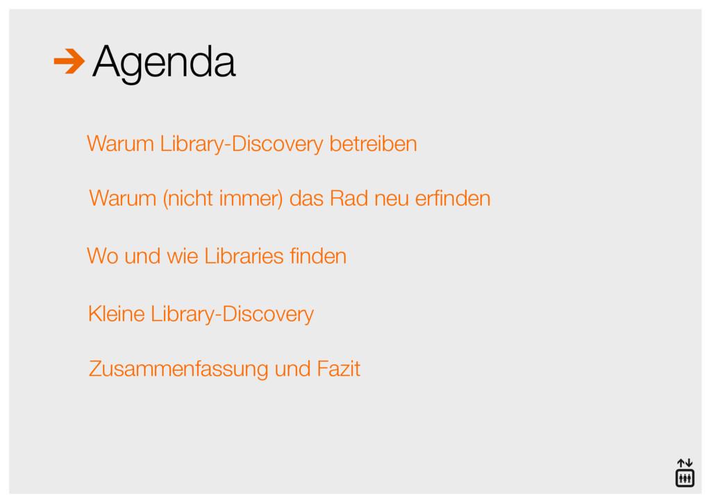 Agenda Warum Library-Discovery betreiben Warum ...