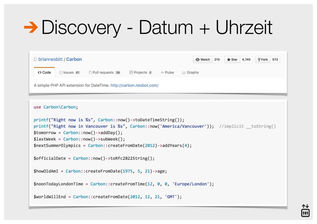 Discovery - Datum + Uhrzeit