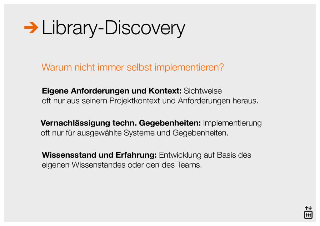 Library-Discovery Eigene Anforderungen und Kont...