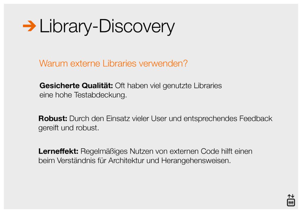 Library-Discovery Gesicherte Qualität: Oft habe...