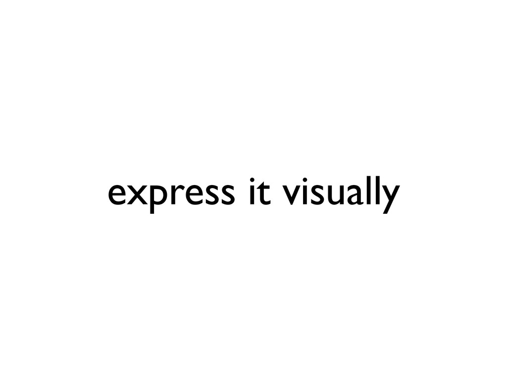 express it visually