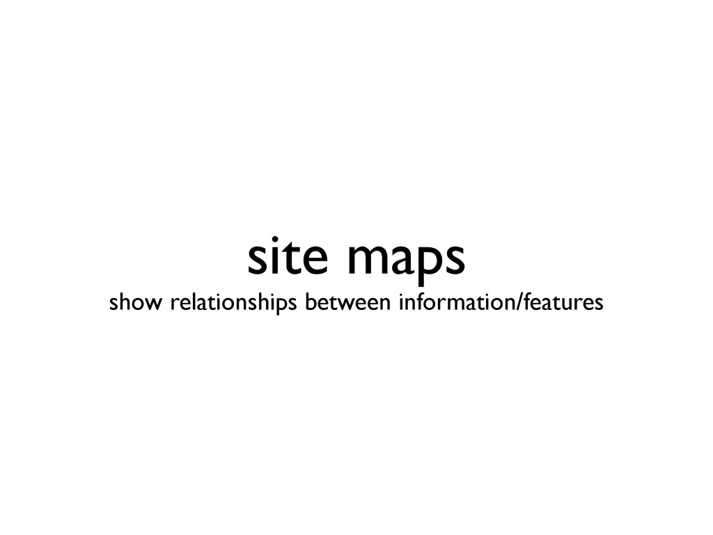 site maps show relationships between informati...