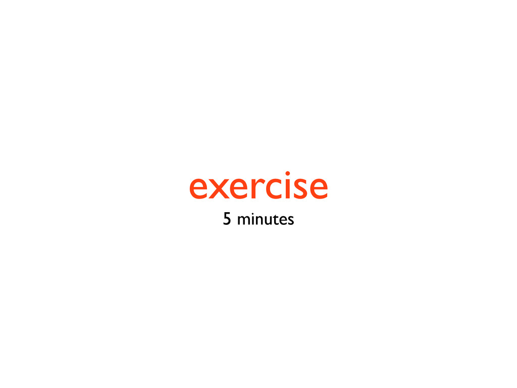 exercise 5 minutes