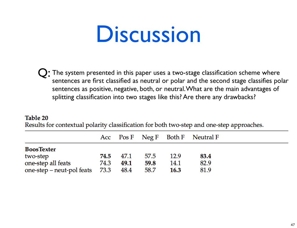 Discussion Q: The system presented in this pape...