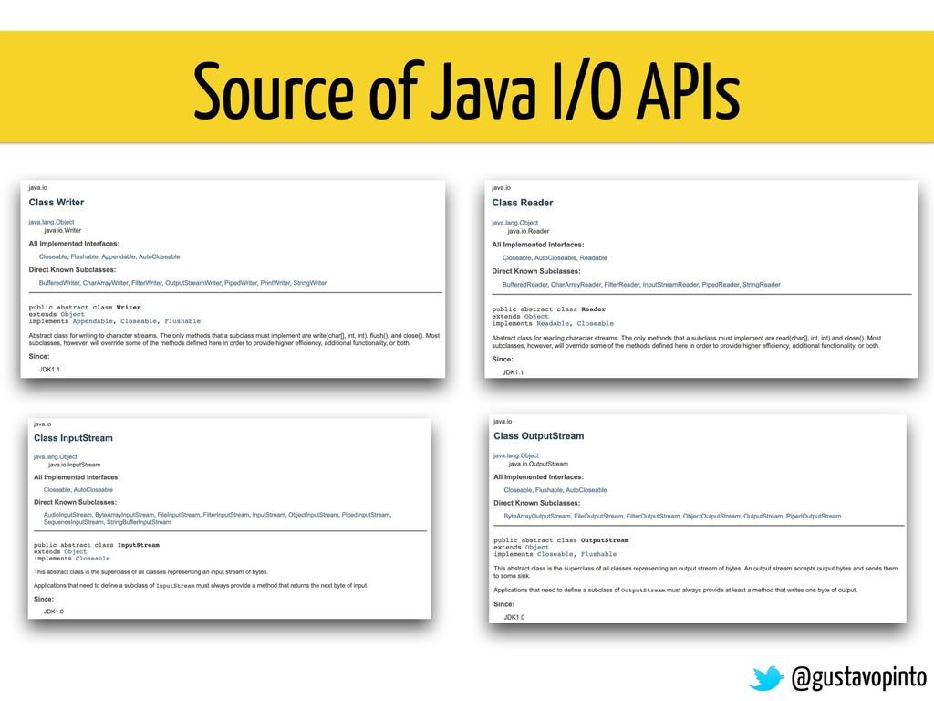 Source of Java I/O APIs @gustavopinto