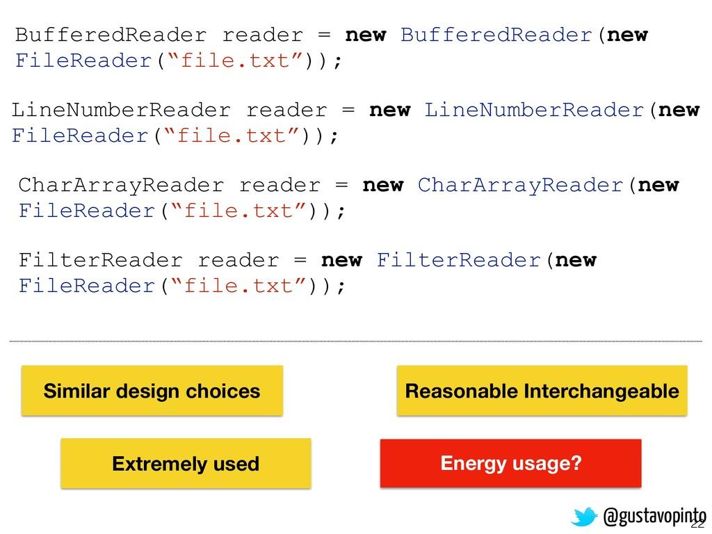 22 FilterReader reader = new FilterReader(new F...