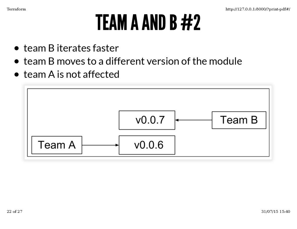 TEAM A AND B #2 TEAM A AND B #2 team B iterates...