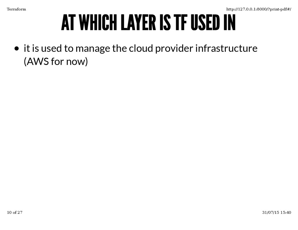 AT WHICH LAYER IS TF USED IN AT WHICH LAYER IS ...
