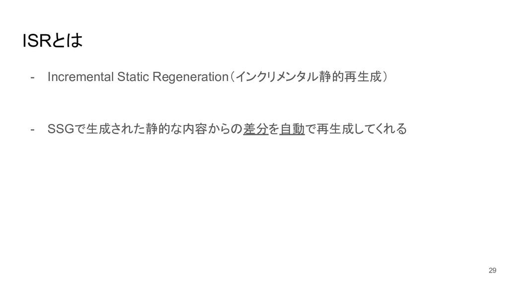ISRとは - Incremental Static Regeneration(インクリメンタ...