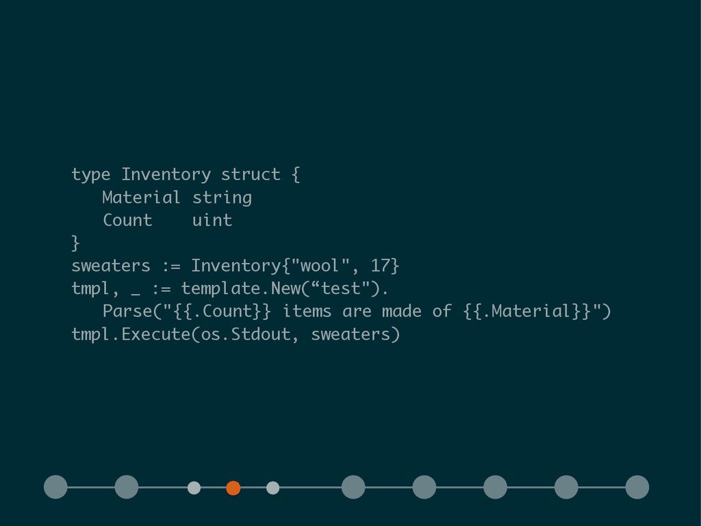 type Inventory struct { Material string Count u...