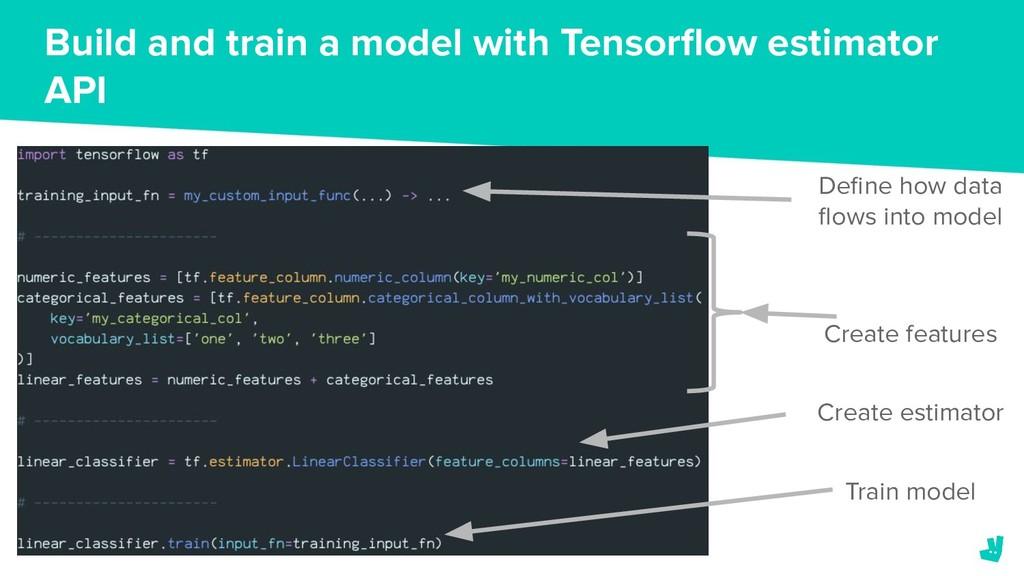 Build and train a model with Tensorflow estimato...