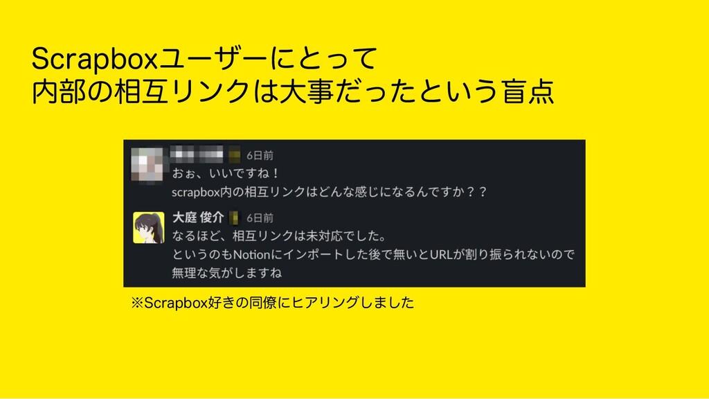 Scrapboxユーザーにとって 内部の相互リンクは大事だったという盲点 ※Scrapbo...