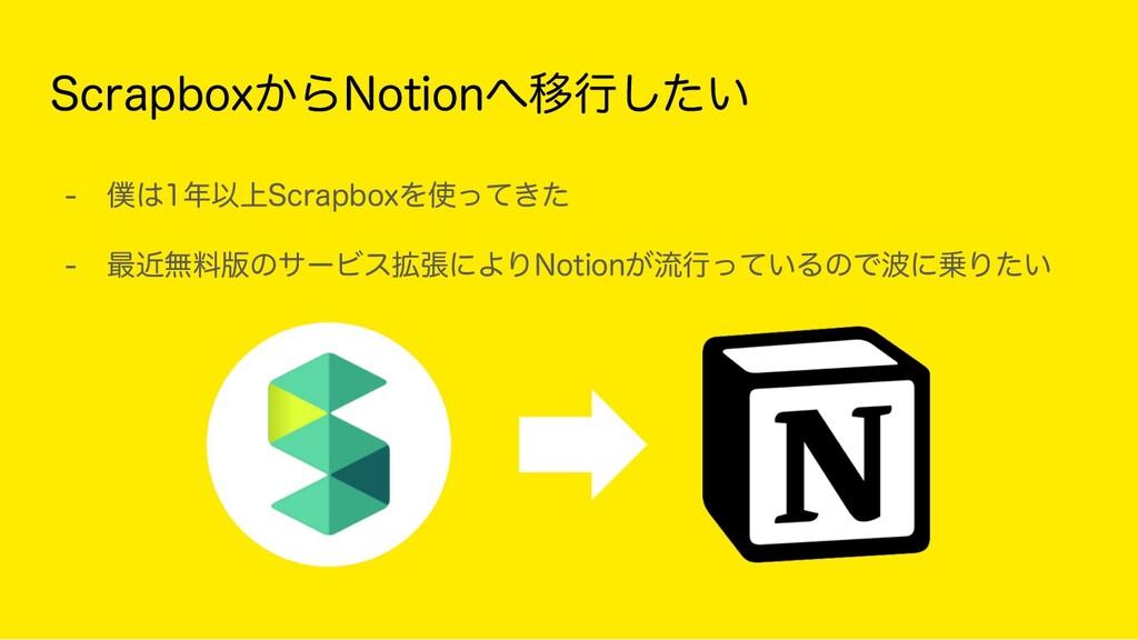 ScrapboxからNotionへ移行したい - 僕は1年以上Scrapboxを使ってきた...