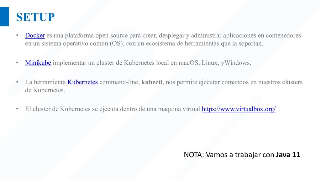 SETUP • Docker es una plataforma open source pa...