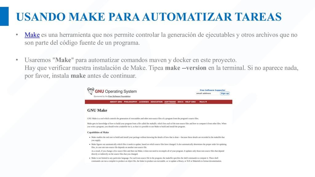 USANDO MAKE PARA AUTOMATIZAR TAREAS • Make es u...
