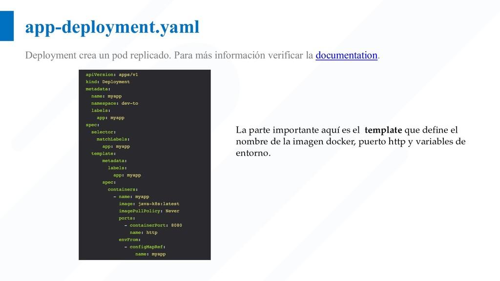 app-deployment.yaml Deployment crea un pod repl...
