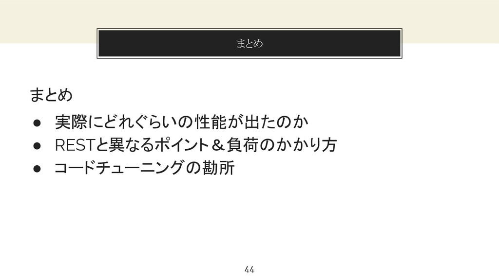 You can also split your content まとめ 44 まとめ ● 実際...