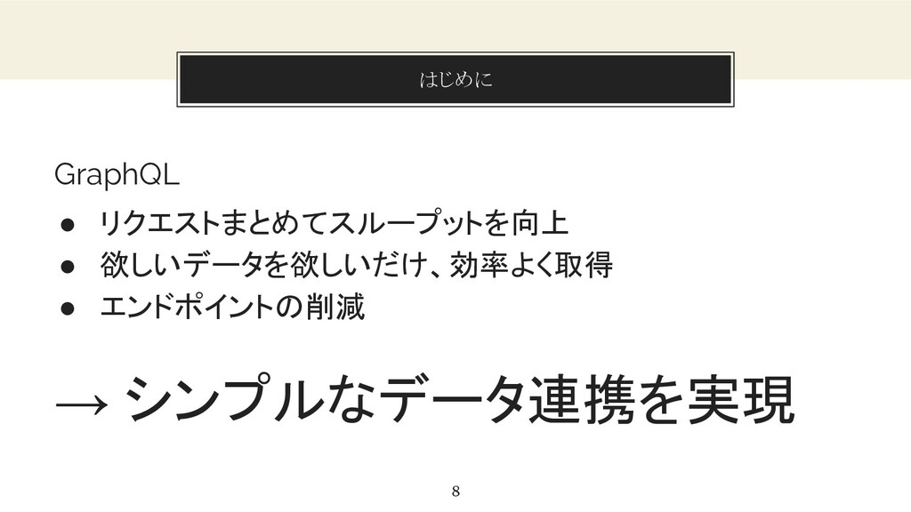 You can also split your content はじめに 8 GraphQL ...