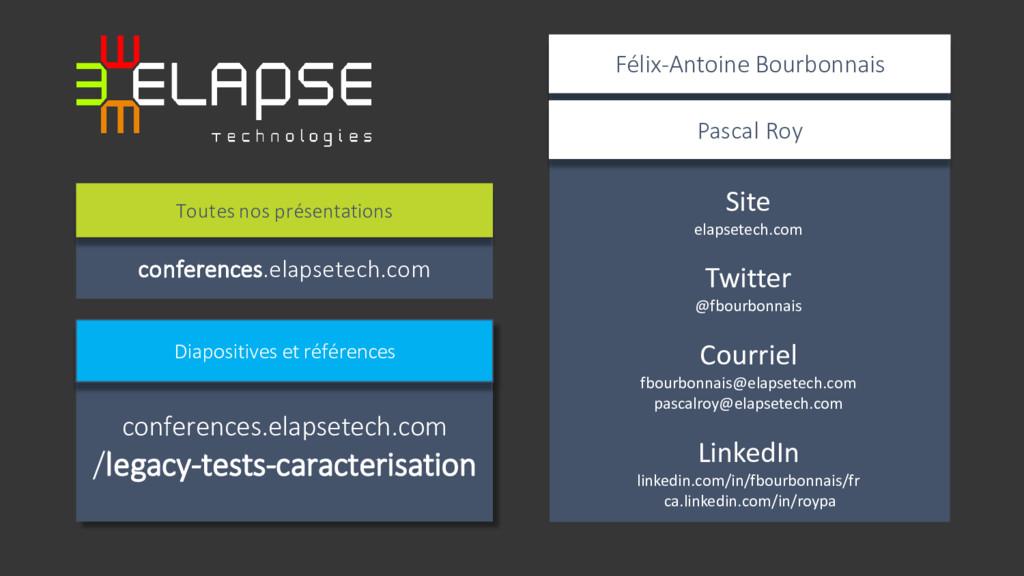 Site elapsetech.com Twitter @fbourbonnais Courr...