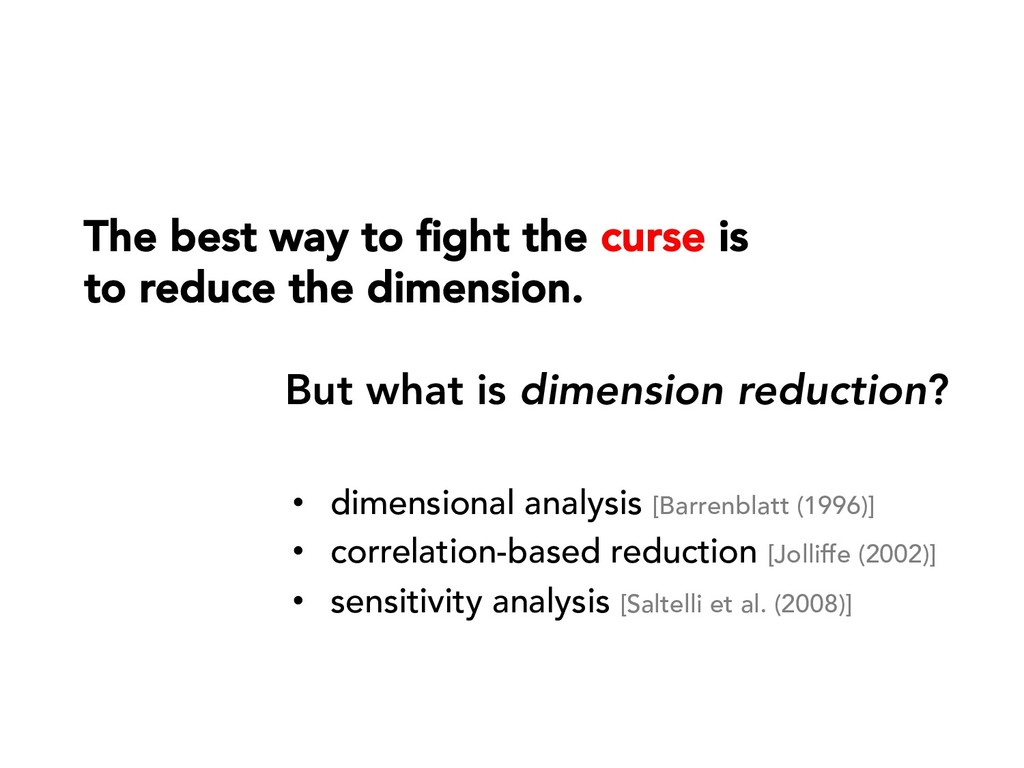 The best way to fight the curse is to reduce the...
