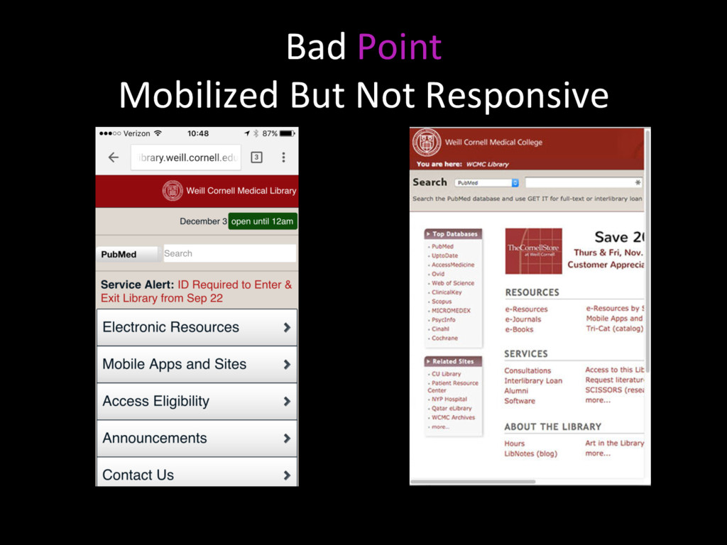 Bad Point Mobilized But Not Responsive