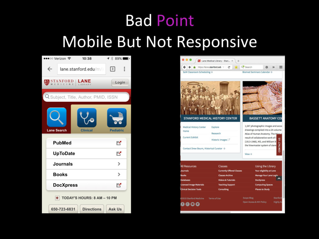 Bad Point Mobile But Not Responsive
