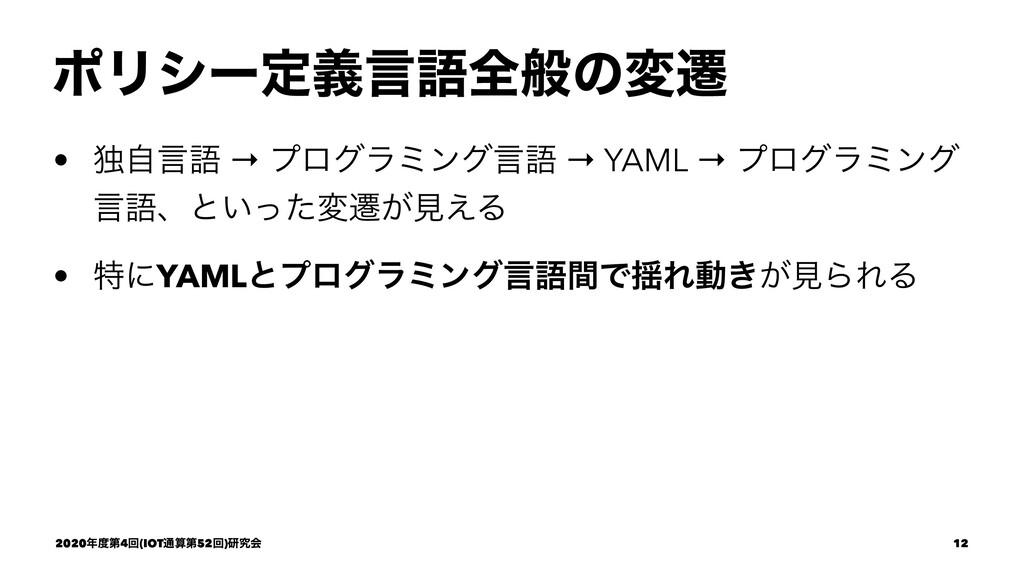 ϙϦγʔఆٛݴޠશൠͷมભ • ಠࣗݴޠ → ϓϩάϥϛϯάݴޠ → YAML → ϓϩάϥϛ...