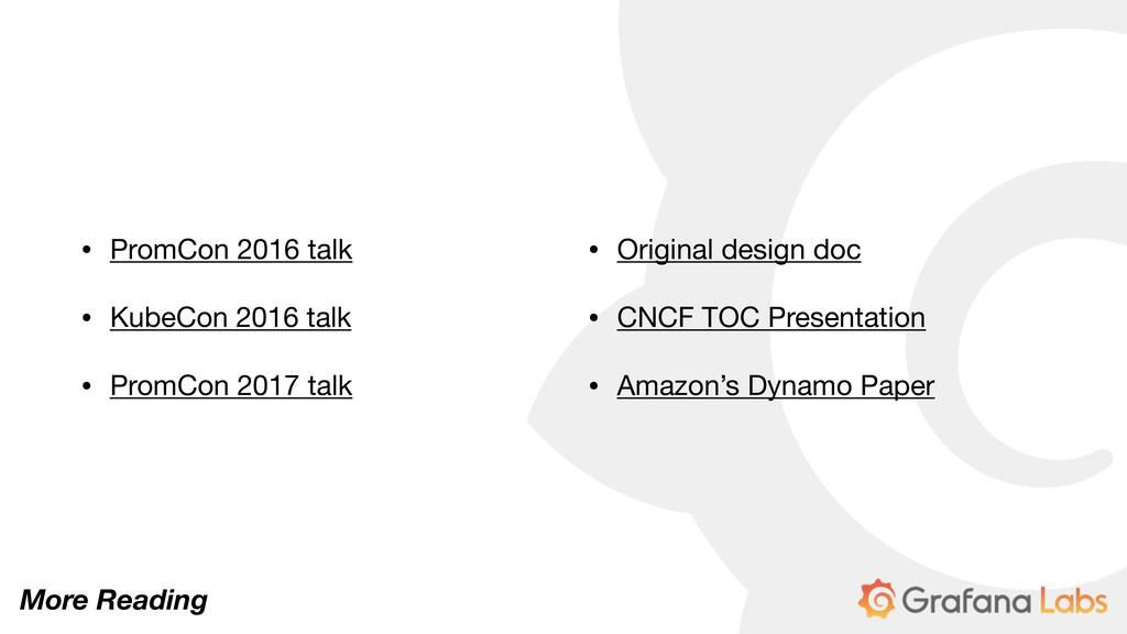 • PromCon 2016 talk  • KubeCon 2016 talk  • Pro...