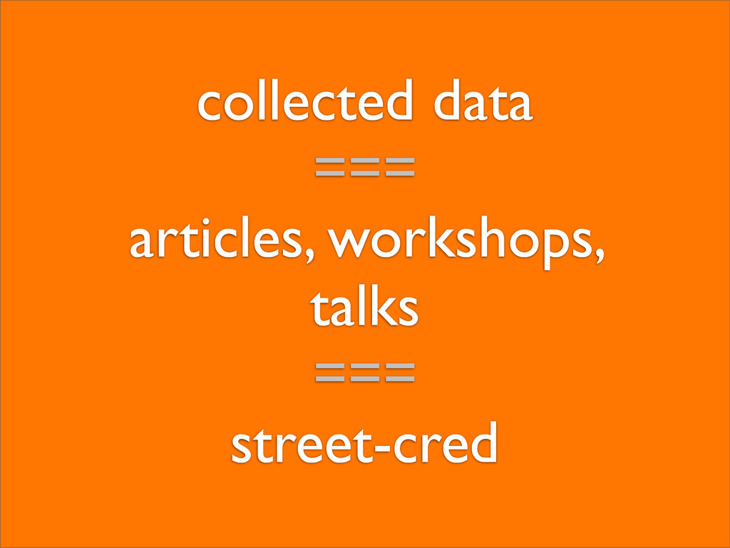 collected data === articles, workshops, talks =...