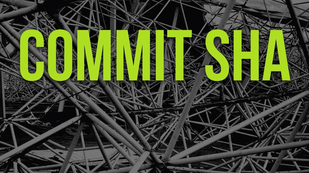 Commit Sha
