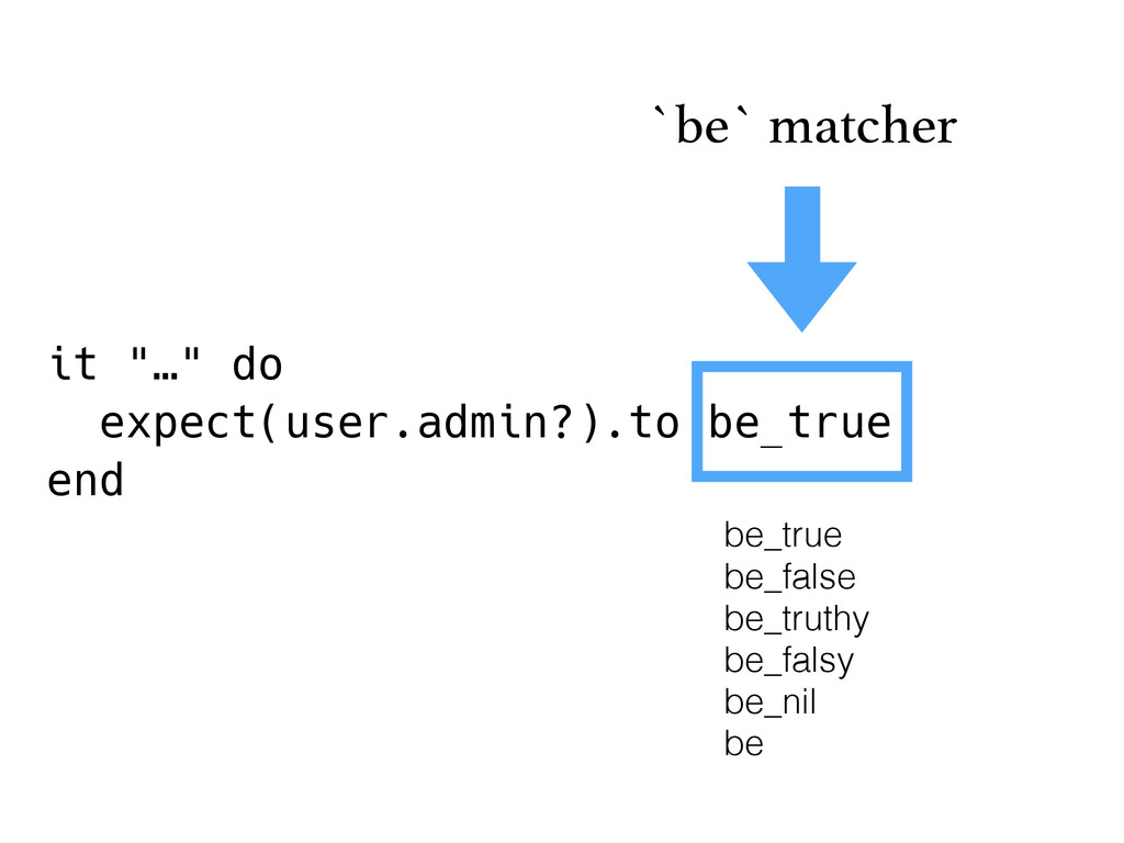 "it ""…"" do expect(user.admin?).to be_true end `b..."