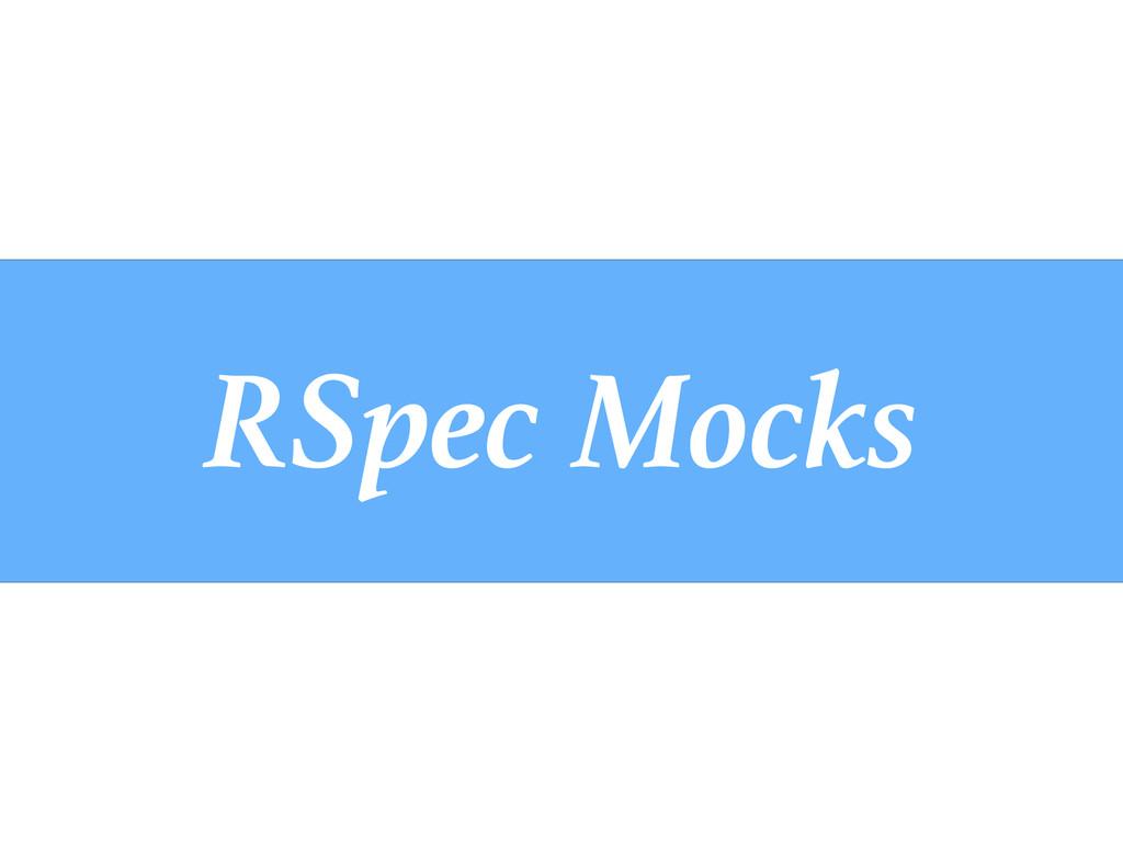 RSpec Mocks