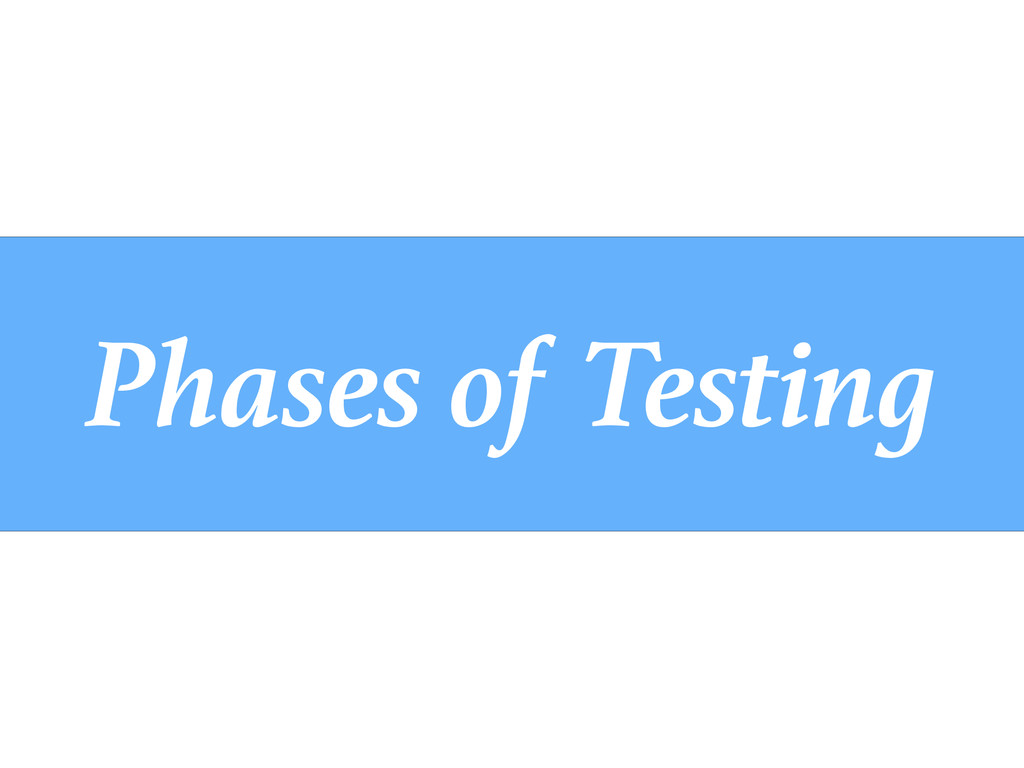 Phases of Testing
