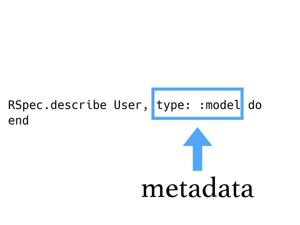 RSpec.describe User, type: :model do end metada...