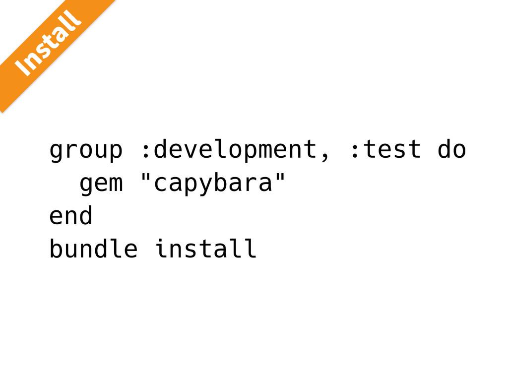 "group :development, :test do gem ""capybara"" end..."