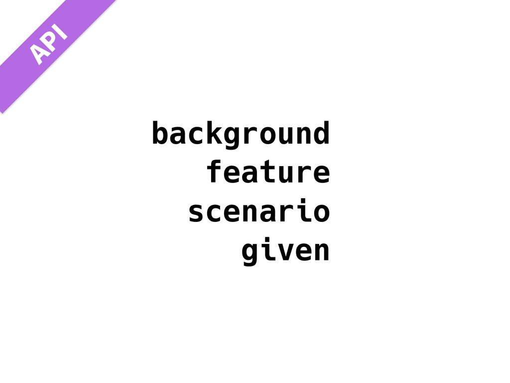 "background feature scenario given ""1*"