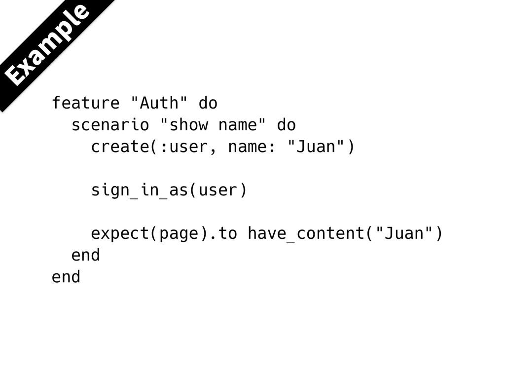 """&YBN QMF feature """"Auth"""" do scenario """"show name""""..."""