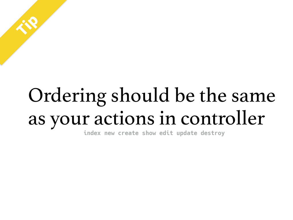 5JQ Ordering should be the same as your actions...