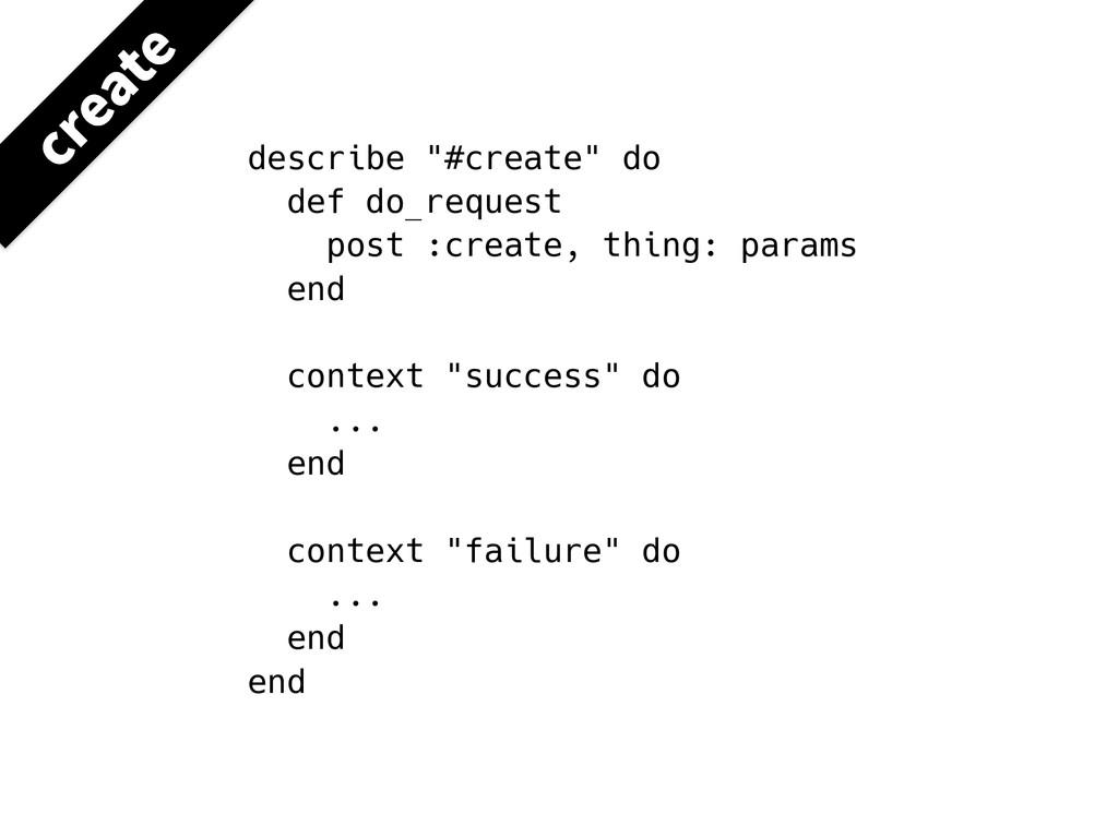 """describe """"#create"""" do def do_request post :crea..."""