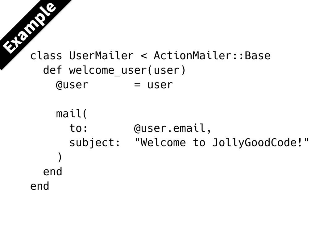 class UserMailer < ActionMailer::Base def welco...