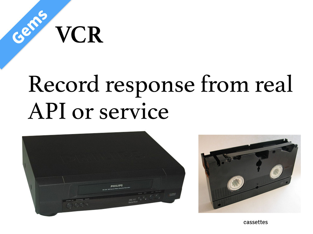 VCR ( FN T Record response from real API or ser...