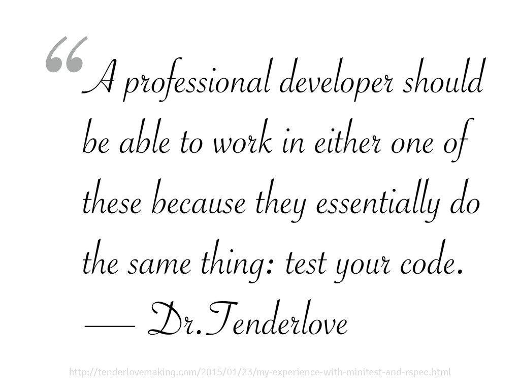A professional developer should be able to work...