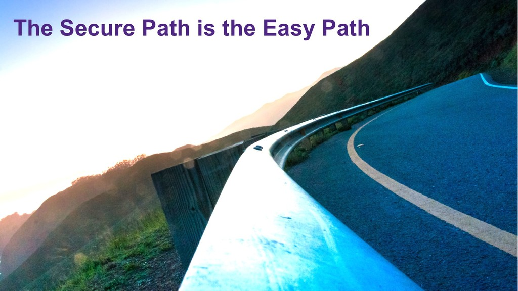© 2019 Synopsys, Inc. 20 The Secure Path is the...