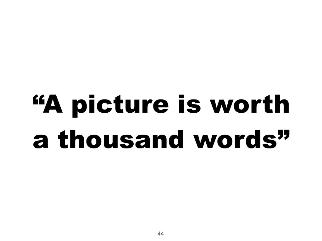 """""""A picture is worth a thousand words"""" 44"""