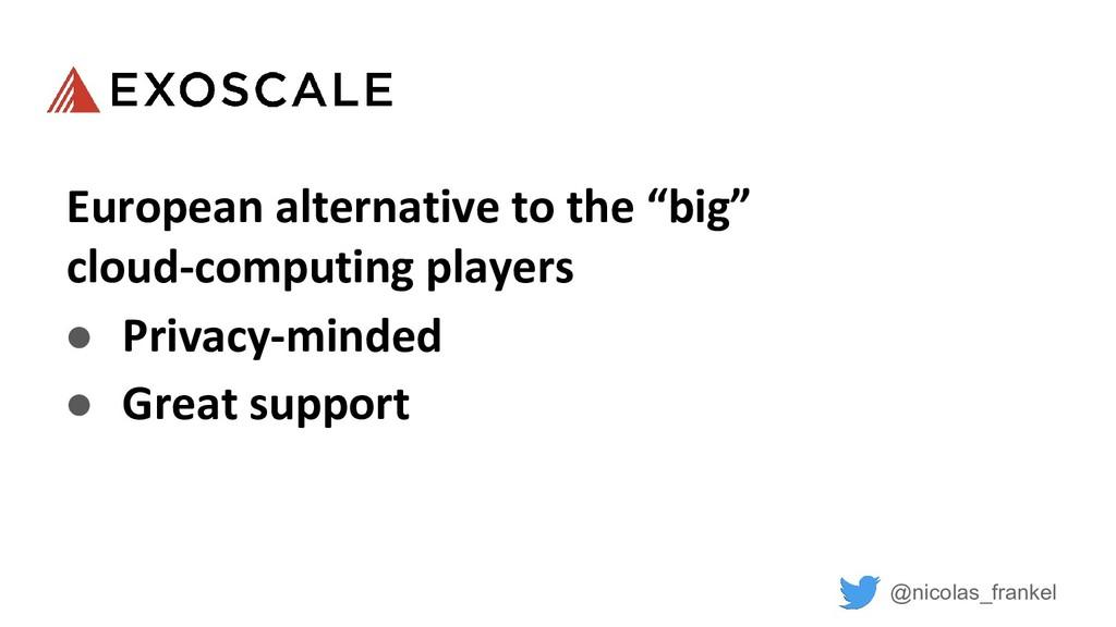 "@nicolas_frankel European alternative to the ""b..."