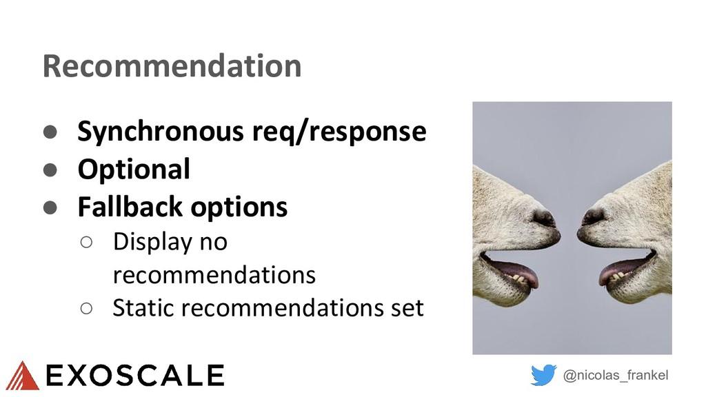 @nicolas_frankel Recommendation ● Synchronous r...