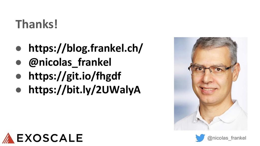 @nicolas_frankel Thanks! ● https://blog.frankel...