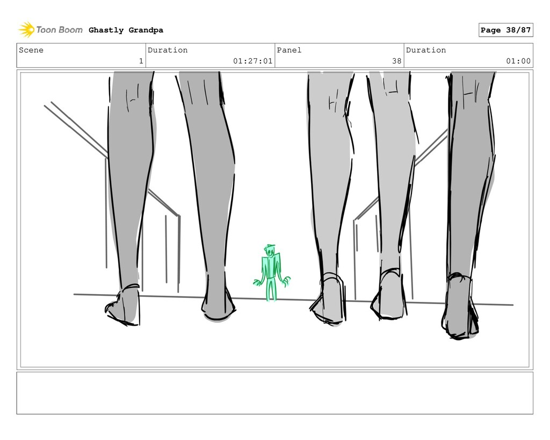 Scene 1 Duration 01:27:01 Panel 38 Duration 01:...