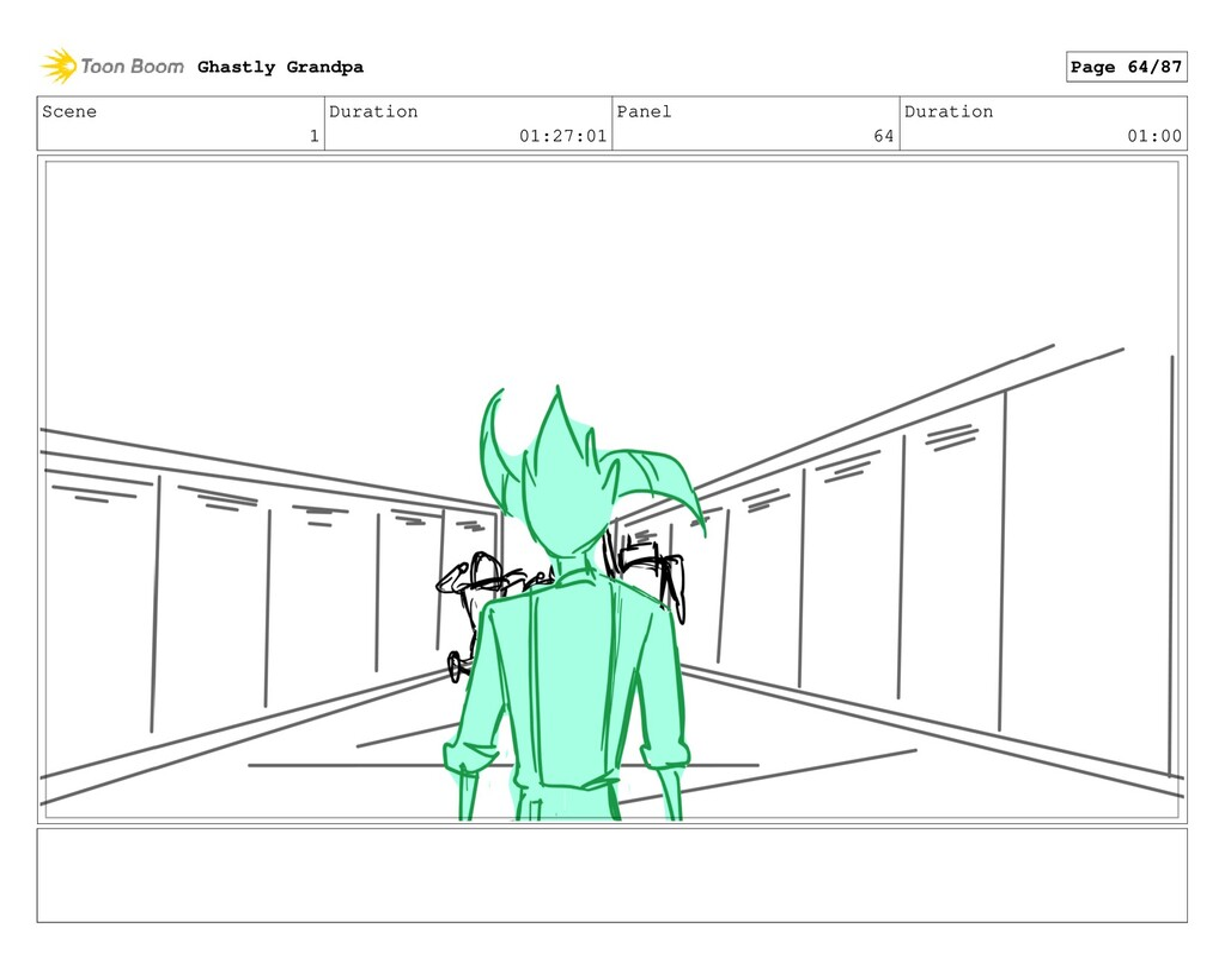 Scene 1 Duration 01:27:01 Panel 64 Duration 01:...